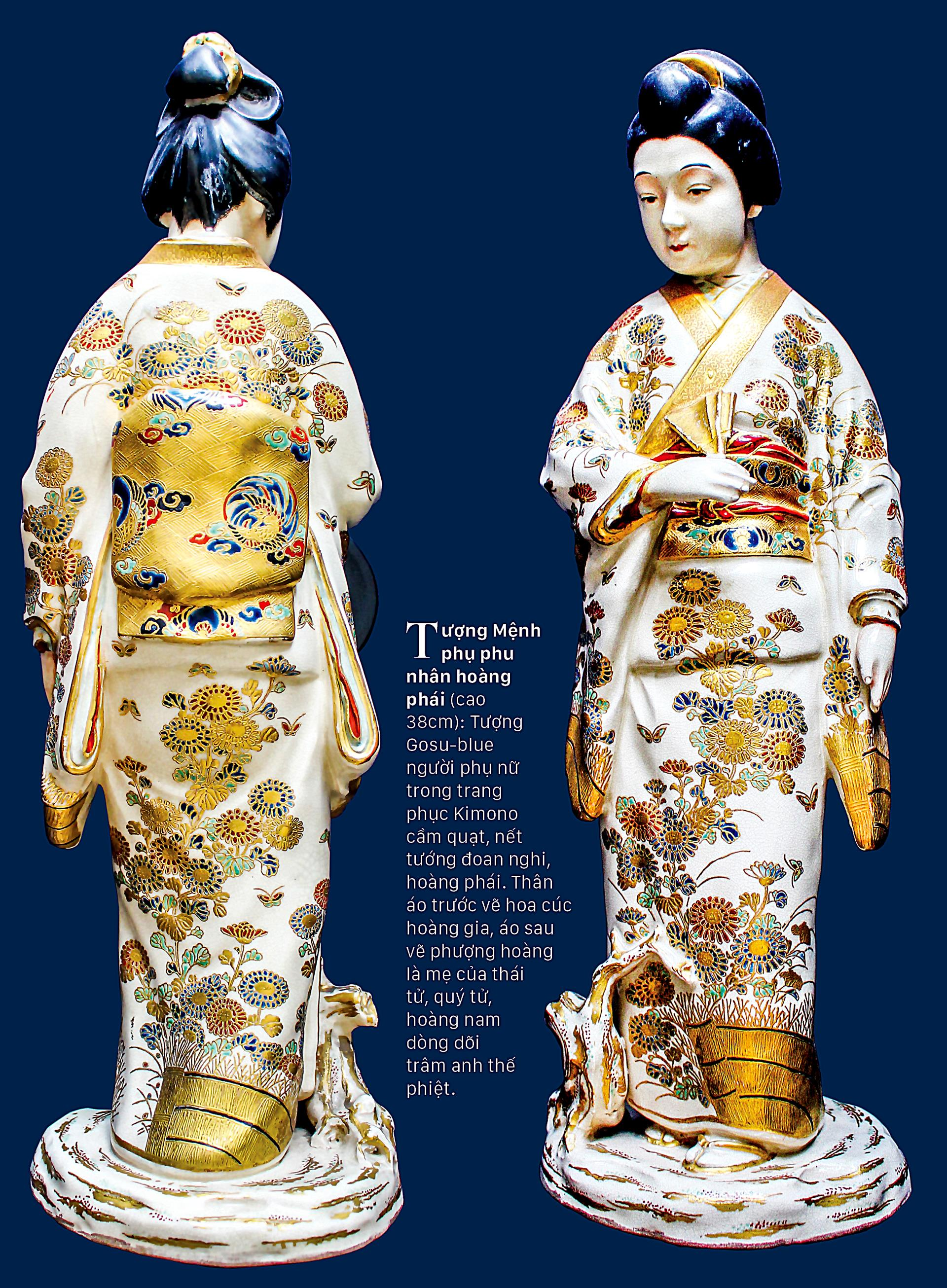 Tao nhã trang phục Kimono trên gốm cổ ảnh 7