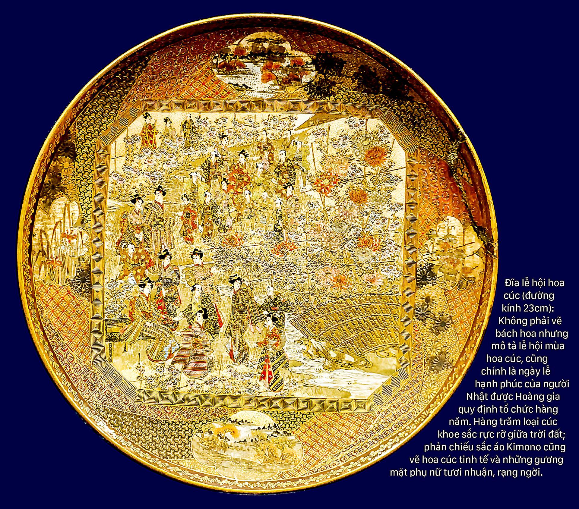 Nghệ thuật thị giác người Nhật qua gốm Bách hoa ảnh 8