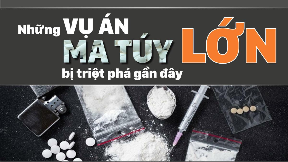 Những vụ án ma túy lớn bị triệt phá gần đây