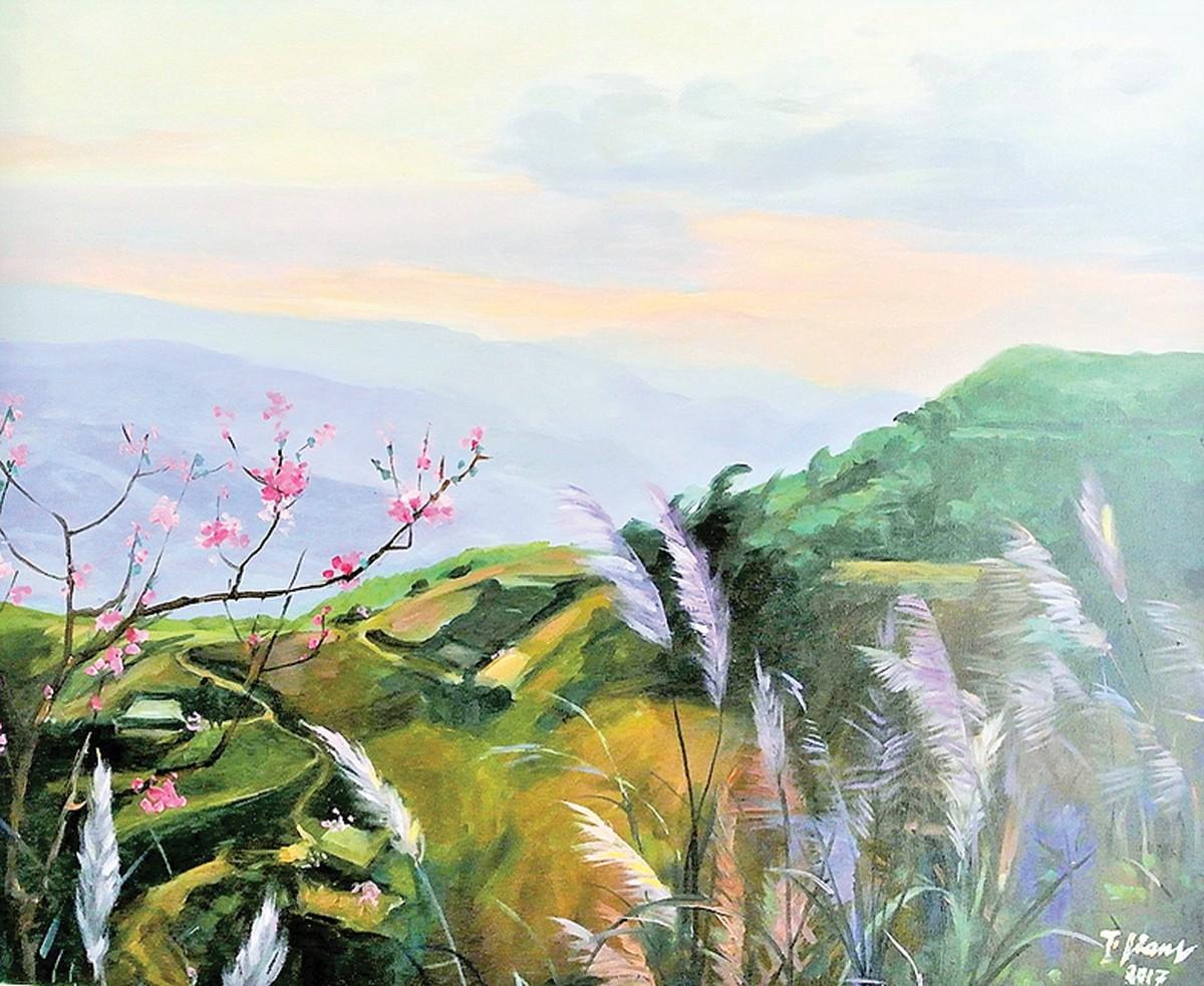 Triển lãm Qua miền Tây Bắc của NSND - họa sĩ Trà Giang: Không gian