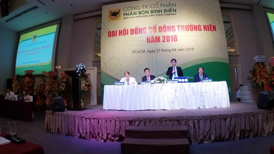 Đại hội cổ đông thường niên của Công ty CP phân bón Bình Điền. Ảnh: PHAN NAM