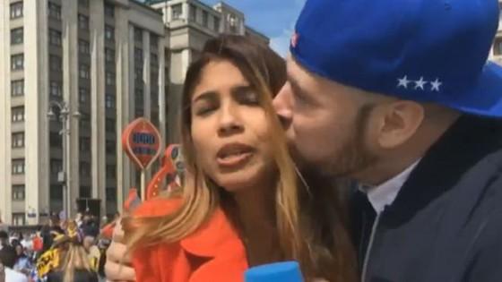 Nữ phóng viên bị quấy rối khi tác nghiệp ở World Cup ảnh 1