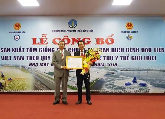 Cơ sở sản xuất tôm giống đầu tiên của Việt Nam đạt chuẩn theo khuyến cáo của tổ chức OIE ảnh 1