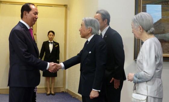 Nhà vua Nhật Bản và Hoàng hậu tham dự tiệc chiêu đãi của Việt Nam
