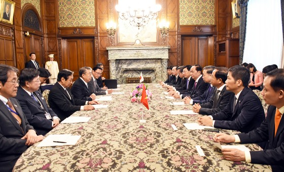 Chủ tịch nước Trần Đại Quang hội kiến với Chủ tịch Hạ viện Nhật Bản ảnh 2