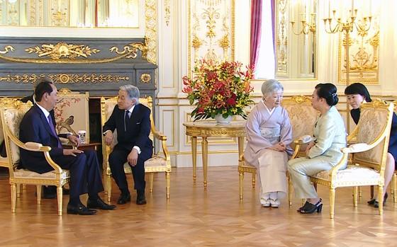 Nhà vua và Hoàng hậu Nhật Bản tiễn Chủ tịch nước Trần Đại Quang và Phu nhân ảnh 2