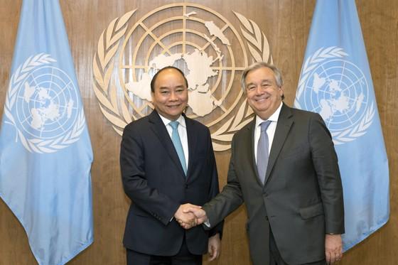Thủ tướng Nguyễn Xuân Phúc gặp gỡ Chủ tịch Đại hội đồng và Tổng Thư ký Liên hiệp quốc ảnh 1
