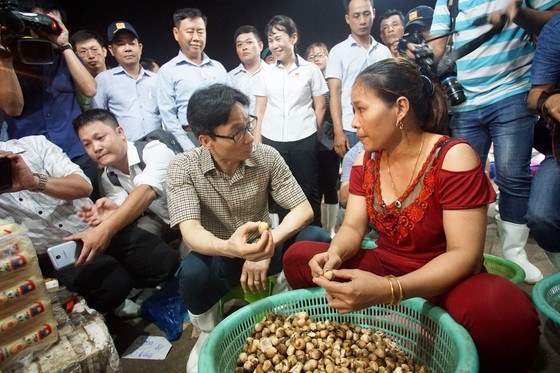 Phó thủ tướng kiểm tra đột xuất chợ đầu mối lúc nửa đêm ảnh 2