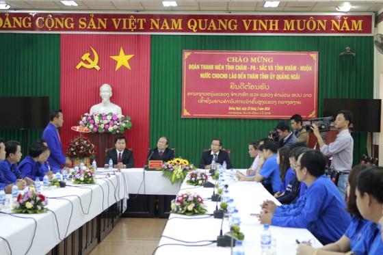 Đoàn thanh niên tỉnh Champasak và tỉnh Khammuane thăm tỉnh Quảng Ngãi ảnh 1