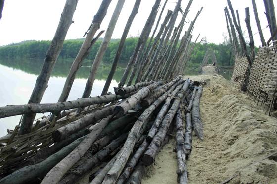 Vỡ 60m đập ngăn mặn trên sông Trà Bồng ảnh 4