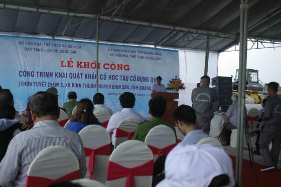Khởi công công trình khai quật tàu cổ Dung Quất tại Quảng Ngãi ảnh 2