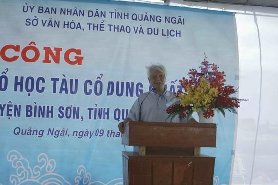 Khởi công công trình khai quật tàu cổ Dung Quất tại Quảng Ngãi ảnh 1