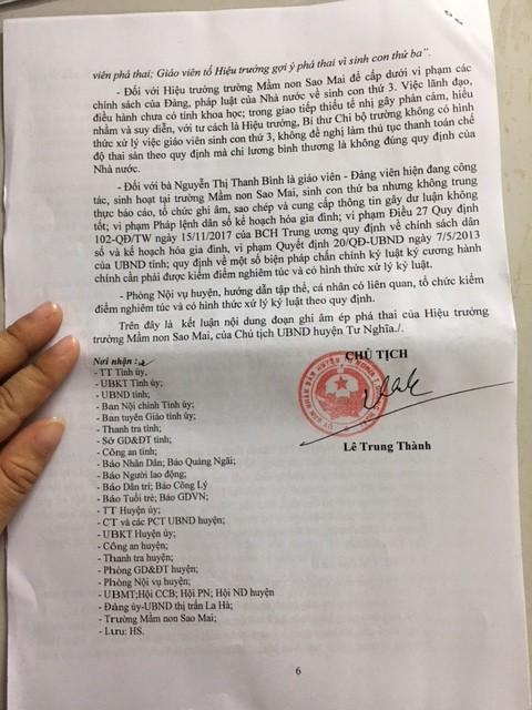 Yêu cầu hiệu trưởng Trường Mầm non Sao Mai rút kinh nghiệm sau nhiều đơn thư tố cáo ảnh 2