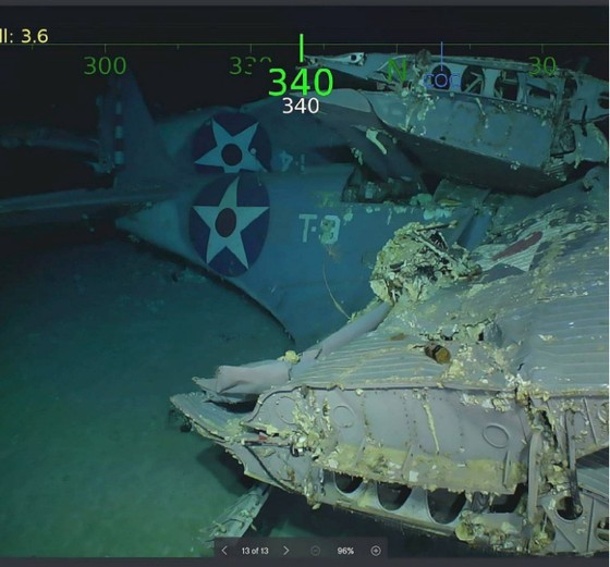 Tìm thấy xác tàu sân bay USS Lexington của Mỹ bị đánh chìm 76 năm trước ảnh 4