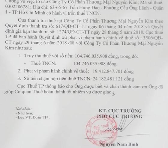 Trốn thuế TNCN, Điện máy Nguyễn Kim bị phạt và truy thu gần 150 tỷ đồng ảnh 1