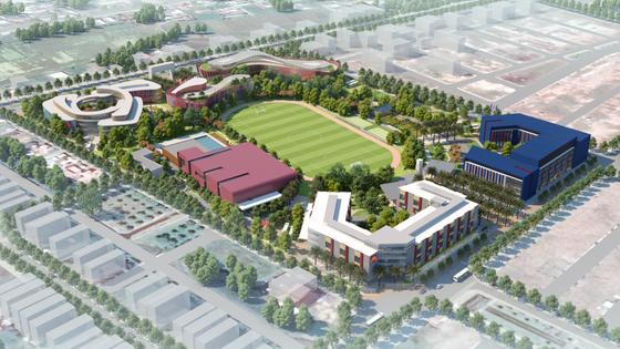 Cất nóc toàn dự án Thành phố giáo dục quốc tế IEC Quảng Ngãi ảnh 3