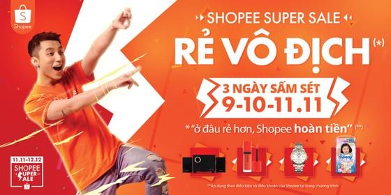 """Shopee Super Sale """"Rẻ vô địch"""" - sự kiện mua sắm lớn nhất mùa cuối năm  ảnh 1"""