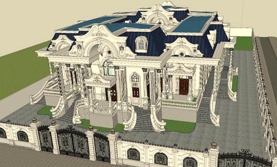 Phối cảnh dinh thự xây sai phép của cha ruột ông Phong.