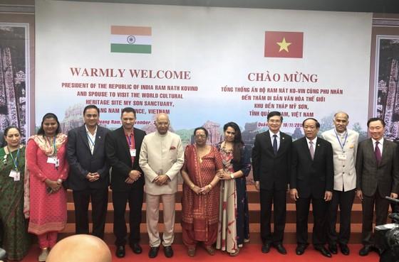 Tổng thống Ấn Độ và Phu nhân thăm bảo tàng điêu khắc Chăm Đà Nẵng và Di tích Mỹ Sơn ảnh 8
