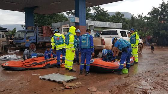 PV Báo SGGP ghi nhận tình hình cứu hộ người bị nạn vụ vỡ đập tại Lào ảnh 11