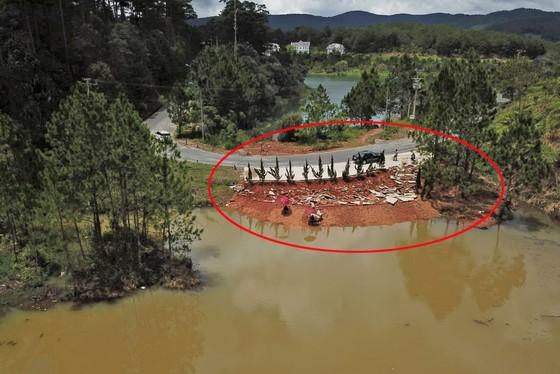 Thêm một công trình không phép ở hồ Tuyền Lâm bị tháo dỡ ảnh 1
