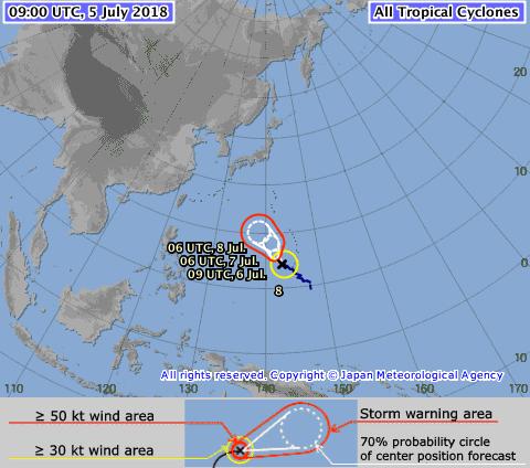 Xuất hiện bão Maria, miền Bắc sắp có mưa lớn ảnh 1
