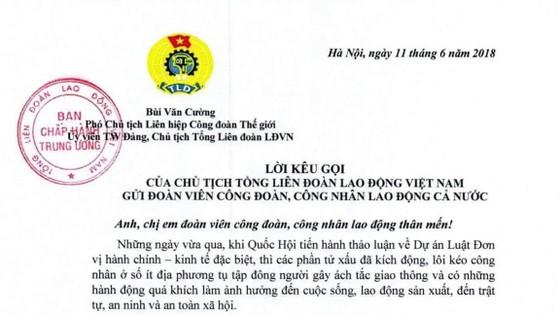 Chủ tịch Tổng Liên đoàn lao động Việt Nam Bùi Văn Cường: Công nhân lao động hãy bình tĩnh, không để lòng yêu nước bị lợi dụng ảnh 1