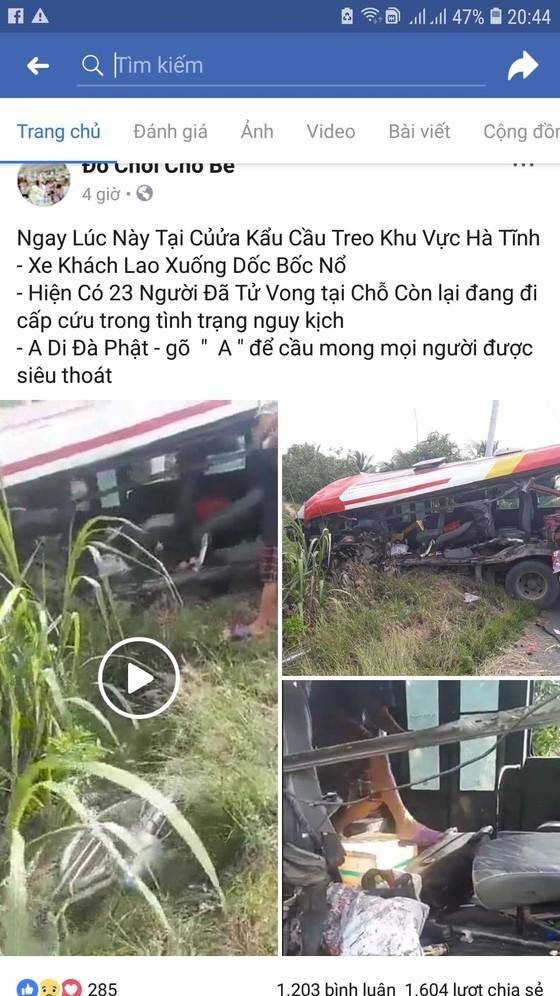 Thực hư thông tin vụ tai nạn xe khách xảy ra ở cửa khẩu Quốc tế Cầu Treo ảnh 1