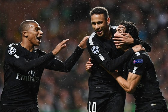 Kylian Mbappe, Neymar và Edinson Cavani (từ trái sang phải), cây đinh ba mới của Paris SG. Getty Images
