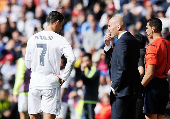 HLV Zidane thất vọng về phong độ Ronaldo. Ảnh: Getty Images