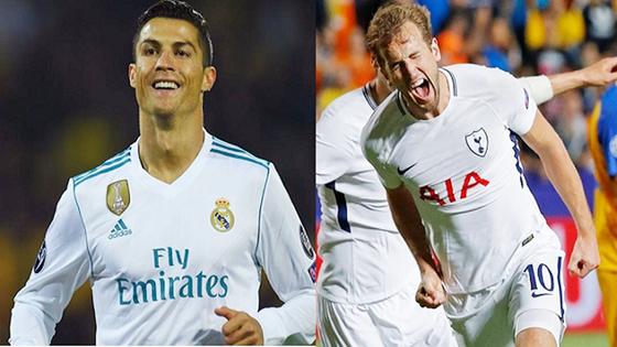 Rất khó kết luận Kane (phải) sẽ lấn lướt được Ronaldo. Ảnh: Getty Images