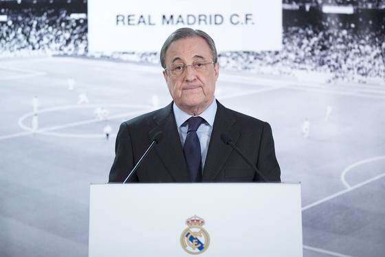 Chủ tịch Perez thể hiện sự đồng cảm với PSG. Ảnh: Getty Images