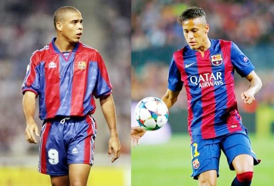 Ronaldo (phải) cho rằng cách Neymar rời Barca cũng giống như bản thân trước đây. Ảnh: Getty Images