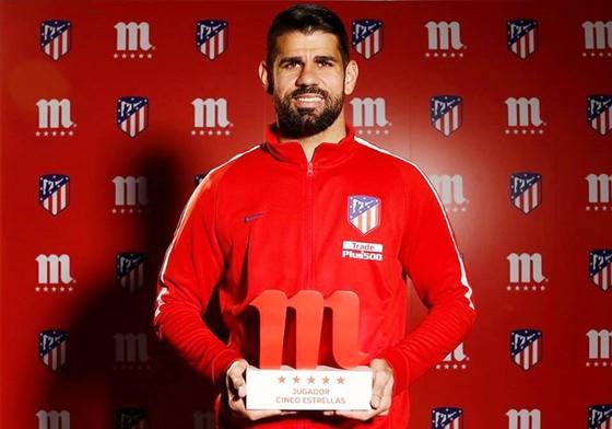 Costa được bầu chọn là cầu thủ xuất sắc nhất tháng 1 của Atletico. Ảnh: Getty Images