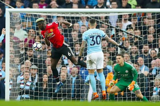 Paul Pogba ghi bàn thắng thứ 2 của mình vào lưới Man.City. Ảnh: Getty Images
