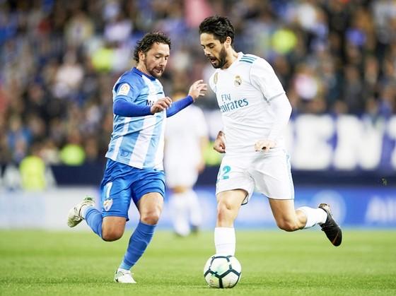 Isco ghi bàn, đưa Real đến chiến thắng trước Malaga. Ảnh: Getty Images