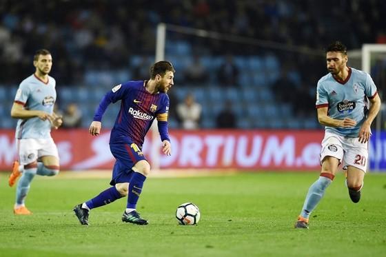 Messi dự bị khiến Barca chật vật trước Celta. Ảnh: Getty Images