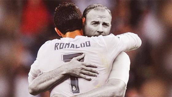 Cách ghi bàn đánh gót của Ronaldo rất giống huyền thoại Di Stefano. Ảnh AS.