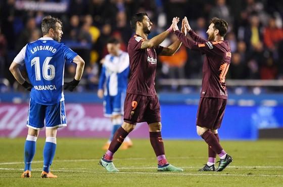 Messi đang dẫn đầu cuộc đua Chiếc giày vàng châu Âu. Ảnh: Getty Images