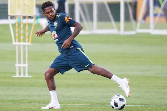 Fred đang cùng tuyển Brazil chuẩn bị cho World Cup. Ảnh: Getty Images