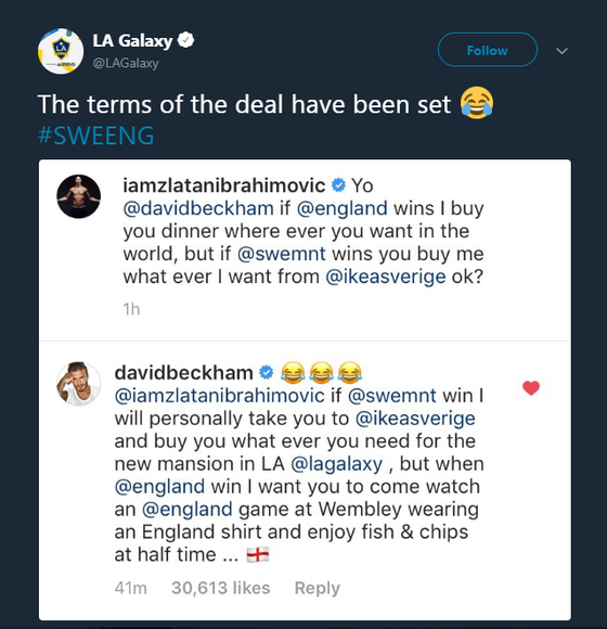 Ibrahimovic thách thức Beckham trước thềm quyết đấu Anh - Thụy Điển ảnh 1