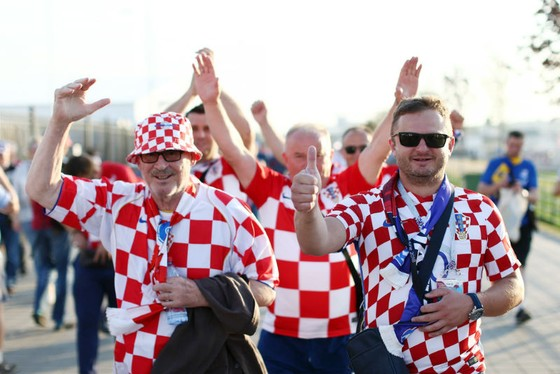 Người hâm mộ Croatia sẵn sàng trước đại chiến với Pháp. Ảnh: Getty Images