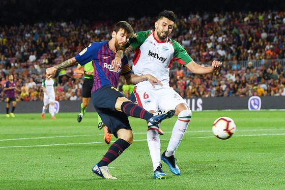 Messi và đồng đội đã có khởi đầu suôn sẻ tại La Liga. Ảnh: Getty Images