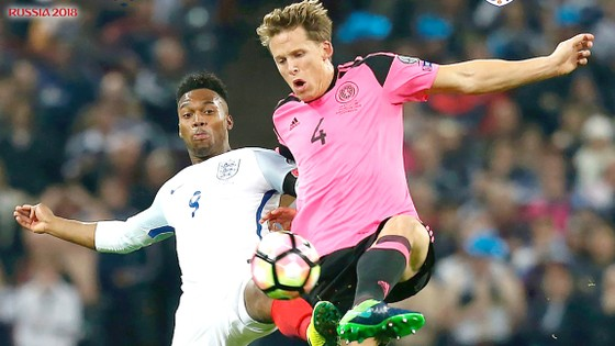 Tuyển Anh với phong độ đỉnh cao đang dẫn đầu bảng F vòng loại World Cup 2018