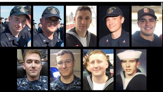 Tìm thấy thi thể 10 thủy thủ mất tích trong vụ va chạm tàu Hải quân Mỹ tại Singapore ảnh 1