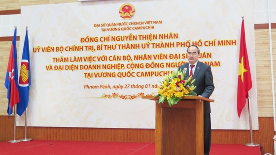 Bí thư Thành ủy TPHCM Nguyễn Thiện Nhân kết thúc tốt đẹp chuyến thăm, làm việc tại Lào và Campuchia ảnh 3