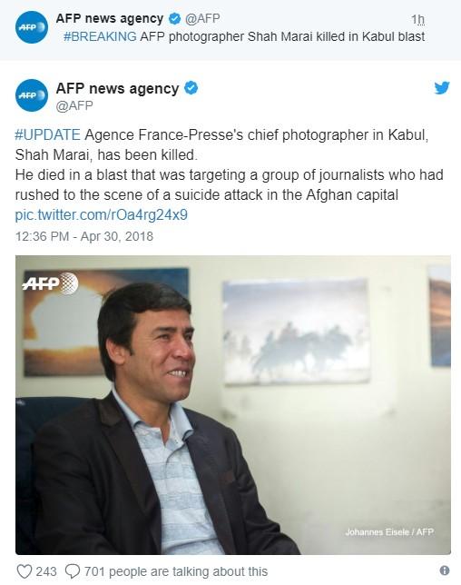 Afghanistan: Ít nhất 25 người thiệt mạng trong 2 vụ đánh bom liều chết tại Kabul ảnh 2