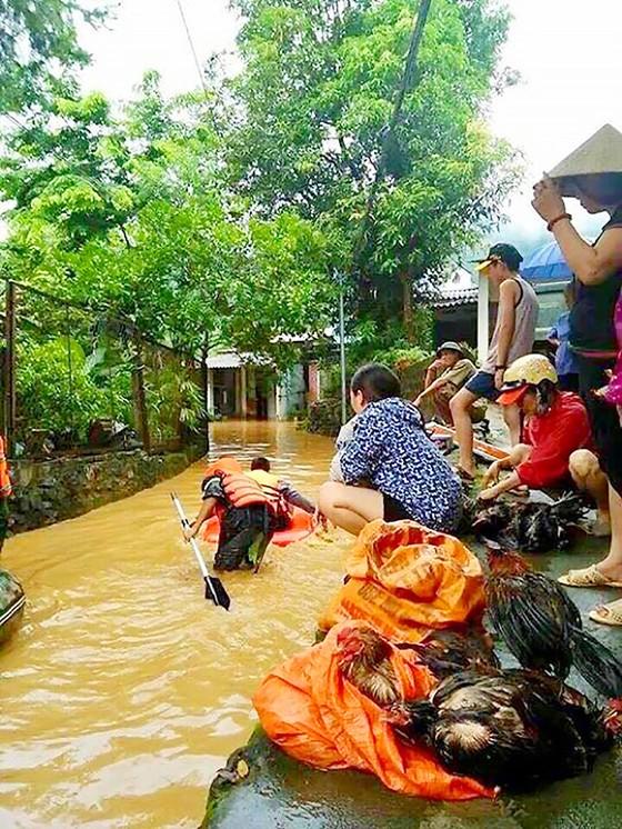 Những người lính cứu nạn cứu hộ trong lũ dữ ảnh 3