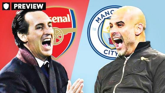 Cuộc đối đầu thú vị giữa Emery (trái) và Pep Guardiola