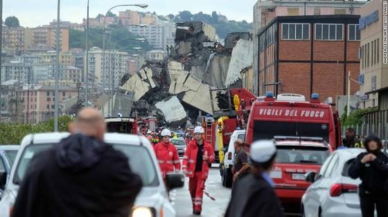 Lực lượng cứu hộ tìm kiếm người sống sót trong đêm trong vụ sập cầu cạn tại Italy ảnh 19